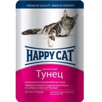 Хэппи Кэт пауч 100гр - Желе - Тунец (Happy Cat)