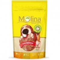 Молина 65гр - Куриные медальоны с сыром и печенью, лакомство для щенков (Molina)