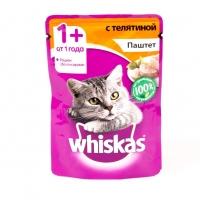 Вискас 85гр - Паштет - Телятина (Whiskas)