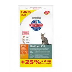 Хилс для кошек стерилизованных. Курица. 8кг + 2кг