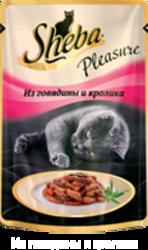 Шеба Плежер 85гр - Говядина и Кролик
