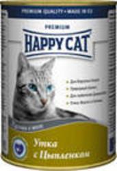 Хэппи Кэт консервы для кошек 400гр - Утка и Цыпленок (кусочки в желе)