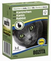 Бозита для кошек, мясные кусочки в соусе с Кроликом 370гр