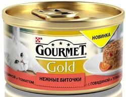 Гурме Голд 85гр - Говядина/Томат (нежные биточки)