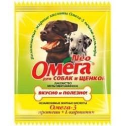 Омега-Нео 15шт - для собак и щенков Протеин