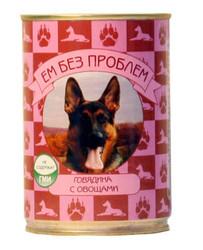 """""""Ем без проблем"""" консервы для собак 410гр - Говядина с Овощами"""