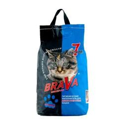 Наполнитель Брава 7л для Длинношерстных кошек - минеральный впитывающий