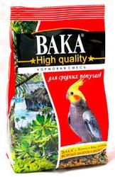 Вака High Quality корм для средних попугаев 500гр