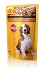 Pedigree консервы для собак 100гр - Говядина и Ягненок в соусе