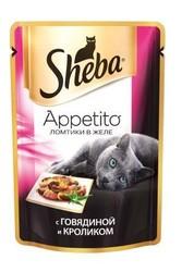 Шеба Аппетито 85гр - Говядина и Кролик (желе)