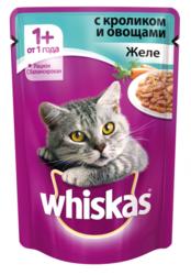 Вискас для кошек 85гр - Желе с Кроликом и овощами