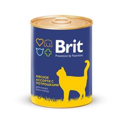 Брит для кошек 340гр - Мясное ассорти с потрошками