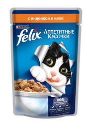 Феликс консервы для кошек 85гр - Индейка (в желе)
