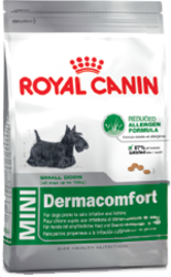 Royal Canin Mini Dermacomfort 800гр, корм для собак, склонных к кожным раздражен