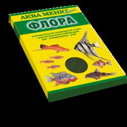Аква-меню Флора 30гр - гранулы основной рацион с растительными добавками