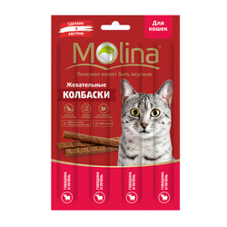 Молина Колбаски для кошек 20гр - Говядина и Печень