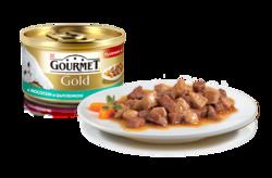 Гурме Голд 85гр - Лосось и Цыпленок, кусочки в подливке