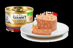 Гурме Голд 85гр - Утка, Морковь и Шпинат, кусочки в паштете
