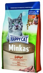 Хэппи Кет Minkas 10кг - корм для взрослых кошек, Птица