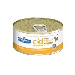 Hill's диета для кошек C/D паштет с Курицей, 156гр