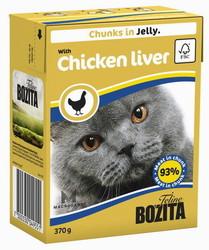 Bozita для кошек, мясные кусочки в желе с Куриной печенью 370гр