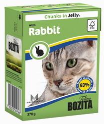 Bozita для кошек, мясные кусочки в желе с Кроликом 370гр