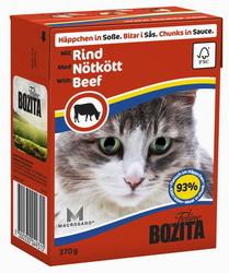 Bozita для кошек, мясные кусочки в соусе с Говядиной 370гр