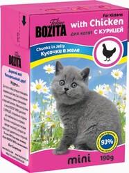 Bozita для котят, мясные кусочки в желе с Курицей 190гр