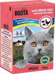Bozita для кошек, мясные кусочки в соусе Мясной коктейль 190гр