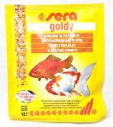 Sera Goldy 12гр - хлопья для золотых рыбок