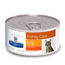 Hill's диета для кошек K/D паштет, 156гр (проблемы почек)