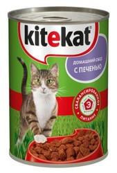 Китекет консервы для кошек 400гр - Печень