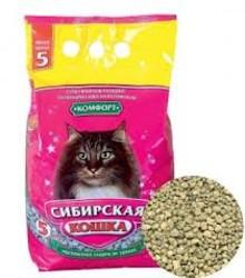 Наполнитель Сибирская кошка Комфорт впитывающий 5л