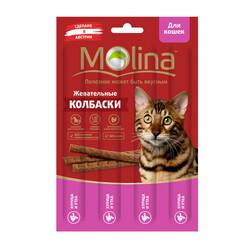 Молина Колбаски для кошек 20гр - Курица и Утка