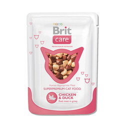 Брит Каре 80гр пауч - для кошек Курица/Утка