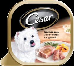 Цезарь 100гр - Цыпленок запеченный с курагой (ламистер)