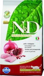 N&D - Курица и Гранат Стерилизед- 1,5кг (беззерновой корм для стерилизованных ко
