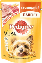 Педигри 80гр - Говядина паштет для мелких собак