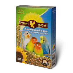 Верные друзья 500гр - корм для мелких и средних попугаев