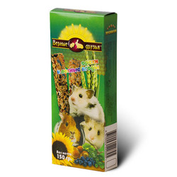 Верные друзья лакомство для грызунов 150гр (2 палочки) - Орехи и Лесные ягоды