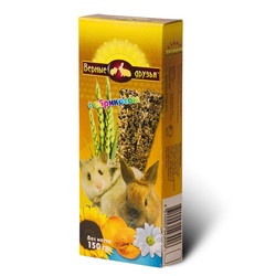 Верные друзья лакомство для грызунов 150гр (2 палочки) - Абрикос