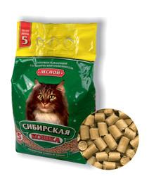 Наполнитель Сибирская кошка Лесной, древесные гранулы 5л