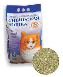 Наполнитель Сибирская кошка Прима комкующийся 5л