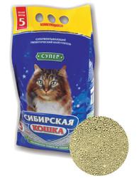 """Сибирская кошка """"Супер"""" комкующийся, 5л"""
