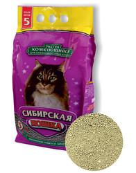 Наполнитель Сибирская кошка Экстра 5л для длинношерстных кошек комкующийся