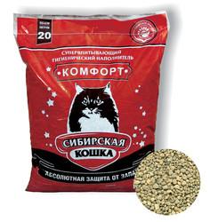 "Сибирская кошка ""Комфорт"" 20л, впитывающий"