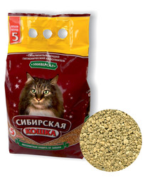 Наполнитель Сибирская кошка Универсал 5л