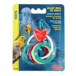 Сердечко с кольцами - игрушка для птиц