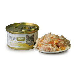 Брит Каре 80гр - для кошек, Куриная грудка и Сыр