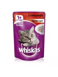 Вискас для кошек 85гр - Крем-суп с Говядиной